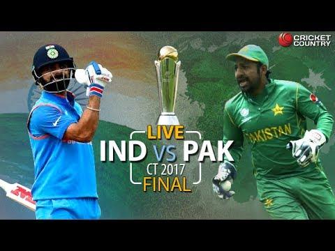 Live Score & Commenantary  - India vs Pakistan Final Match - ICC Champions Trophy |