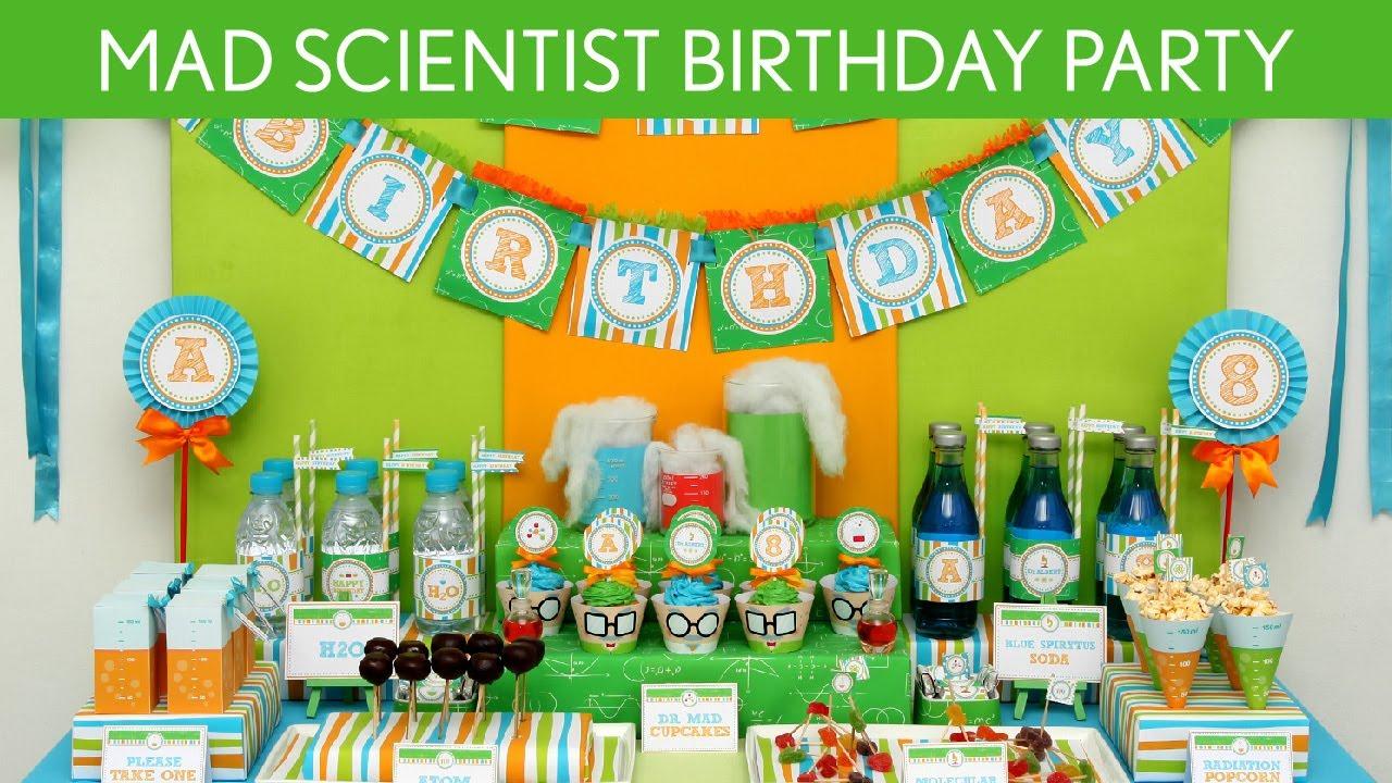 Mad Scientist Birthday Party Ideas // Mad Scientist - B43 - YouTube