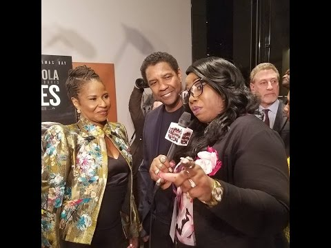 DENZEL & CAST  OF FENCES MOVIE  SCREENING IN DC