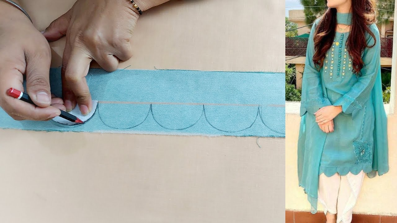 Kurti Ghera Design with Cutwork | Beautiful Kurti Design making | Reet Designs