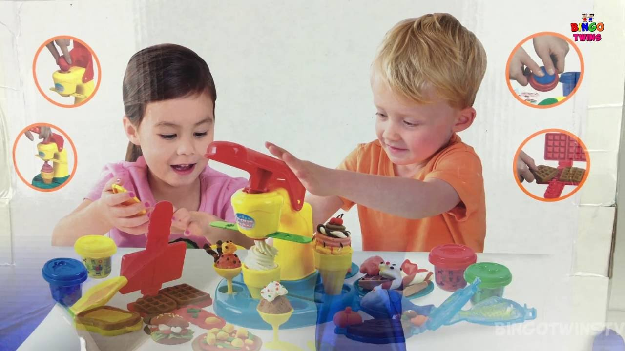 food court playset play doh cooking set diy food how to make playdoh ice cream and dessert. Black Bedroom Furniture Sets. Home Design Ideas