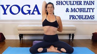 30 Minute Yoga Class with Julia ♥ Back Flexibility & Shoulder Pain, Upper Back Pain