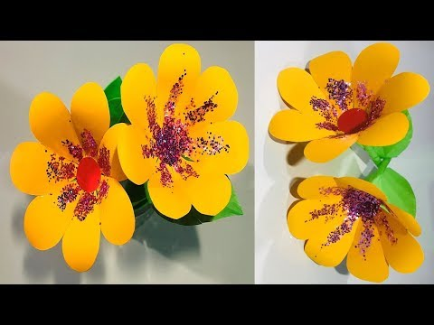 DIY: How to make beautiful paper flowers/ Crafts- Work DIY