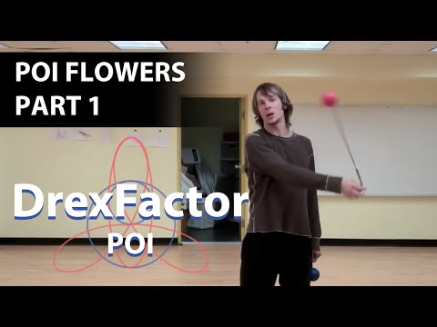 Beginner Poi Tutorial: Flowers part 1