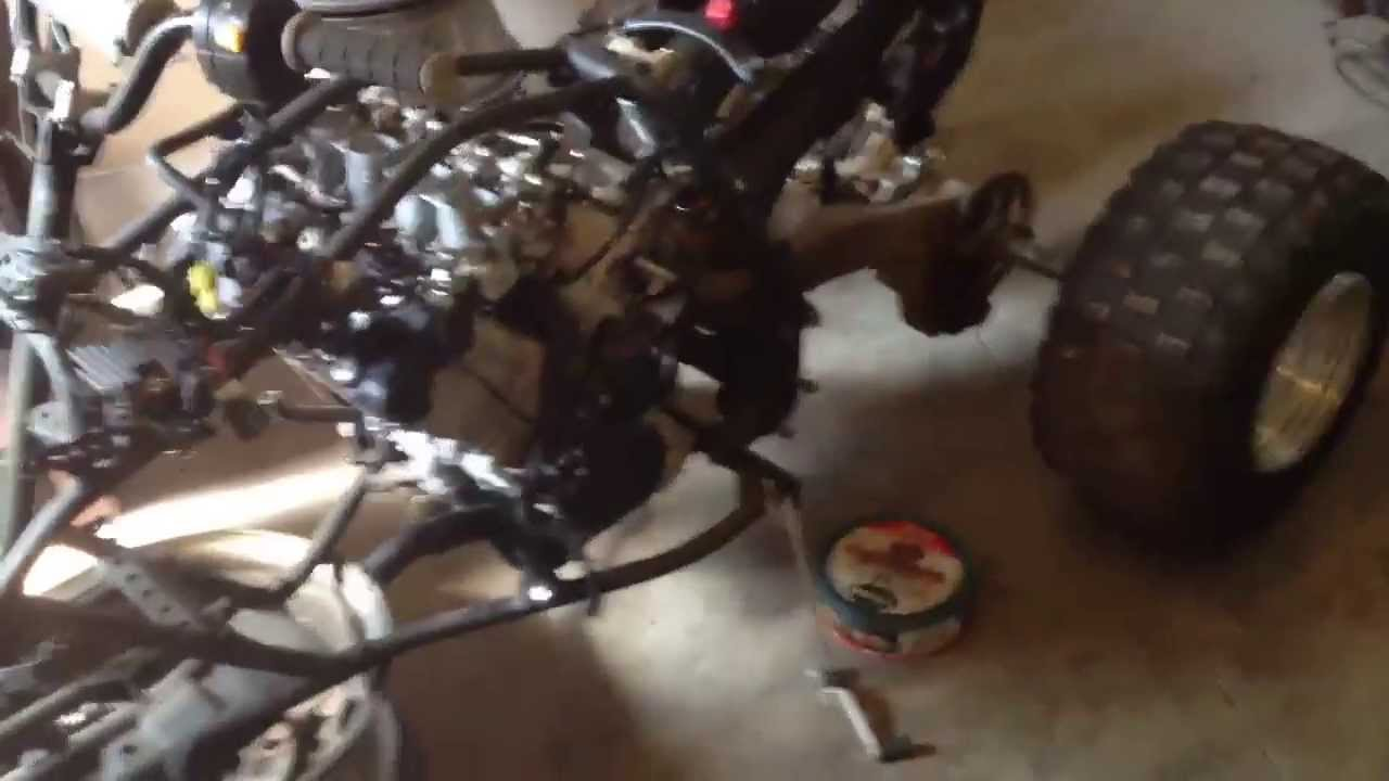 Yfz 450 Gsxr 600 motor - Custom quad build