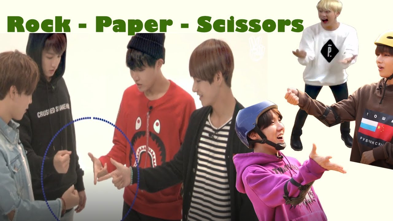 Bts Play Game Rock Paper Scissors So Funny 방탄소년단 Youtube