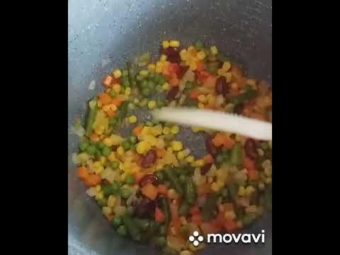 Каша пшеничная с овощами в мультиварке