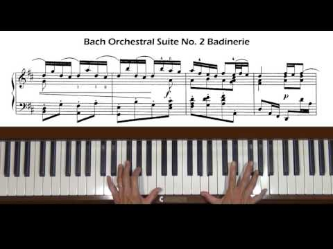 Bach Badinerie from Orchestral Suite No. 2 in B minor, BWV 1067 Piano Tutorial