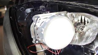 Установка светодиодных линз на Hyundai i40