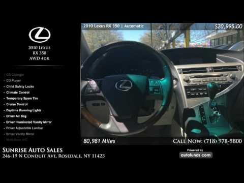 Used 2010 Lexus RX 350 | Sunrise Auto Sales, Rosedale, NY