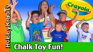 Worlds BEST Chalk Toys Party! MEGA Crayola Disney Cars + Toy Story by HobbyKidsTV