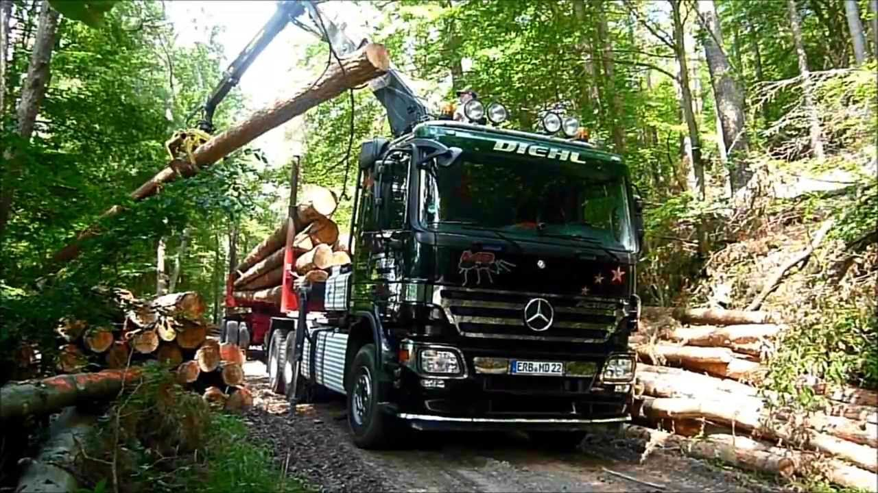 Holztransport 2014 mit mercedes benz actros youtube for Mercedes benz tysons hours