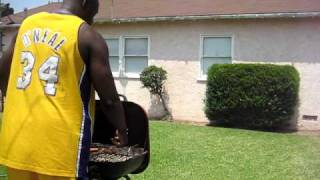 """Shaq out jumps Kobe.(Funny comedy video)Spoof""""truTV's Top Funniest"""".FAKE SHAQ JUMPS OVER BBQ-"""