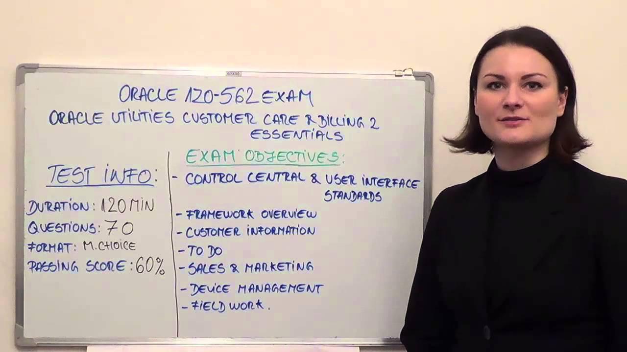 1Z0 562 Oracle Utilities Customer Test CareBilling