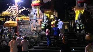 Strange ball of white light outside Bali temple