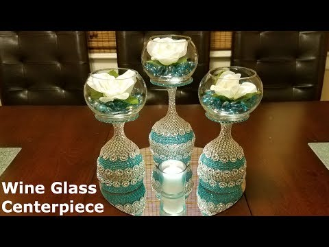 DIY Centerpiece ideas / Wine Glass Centerpiece