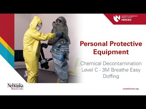 Chemical Decontamination PPE: Level C 3M Breathe Easy - Doffing