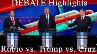 cnn republican debate highlights rubio vs trump vs cruz 2 25 2016