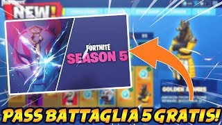 HOW TO GET THE BATTLE PASS SEASON 5 FOR FREE! CONTEST FORTNITE ITA