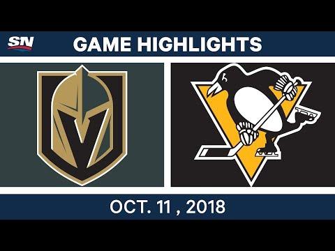 NHL Highlights   Golden Knights vs. Penguins - Oct. 11, 2018