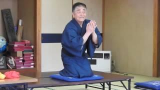 演ずるは本名 鈴木正幸さん。那須町富岡集落センターで3月22日録画。