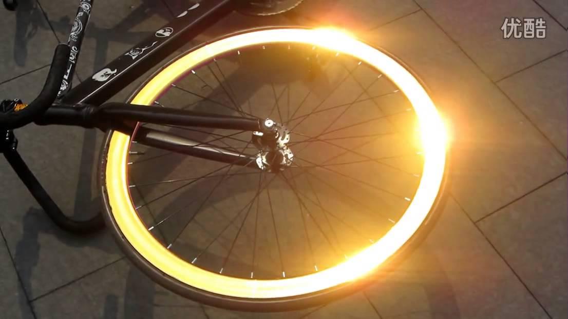 Golden Reflective Fixie Bicycle Fixed Gear Bike Wheel Rim