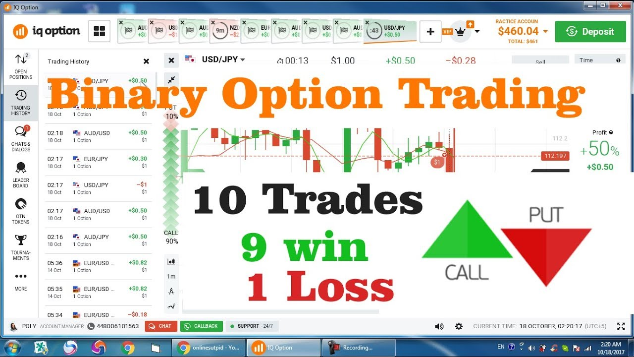 Online options trading account
