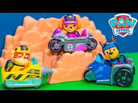 PAW PATROL Nickelodeon Mission Paw Vehicles Rubble Skye and Chase Mission Vehicles Toys
