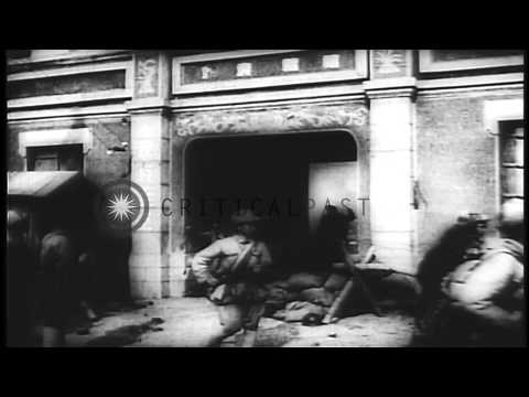 The operations of US 3rd Infantry Division in Korea during the Korean War. HD Stock Footage