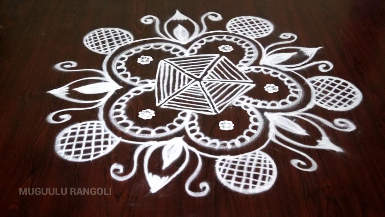 Hand Free Rangoli Best Free Hand Rangoli Designs Free Hand Drawing