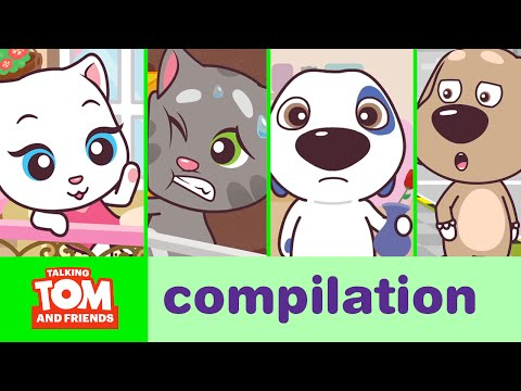 Talking Tom and Friends Minis - Episodes 1-4 Binge Compilation