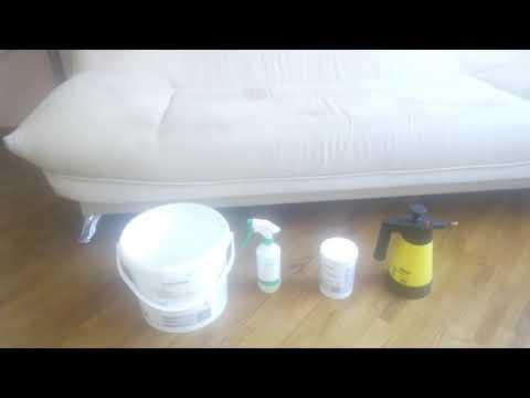 Химчистка дивана моющим пылесосом Karcher Puzzi 100 Super г. Донецк.