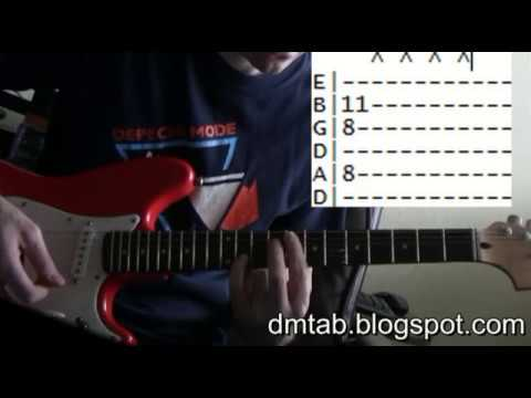 Depeche Mode World in my eyes guitar tab chords lesson