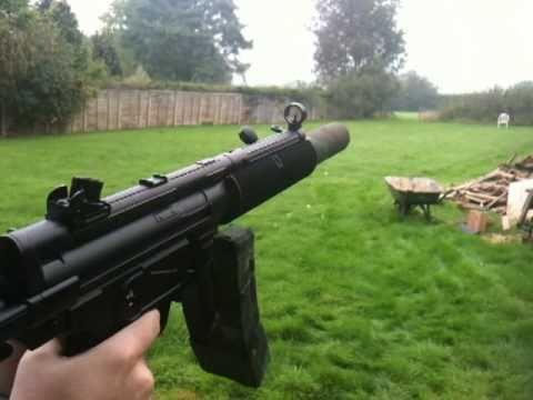ICS H&K MP5 SD3 airsoft gun test