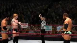 Скачать WWE 12 Justin Gabriel Heath Slater Vs David Otunga Michael McGillicutty