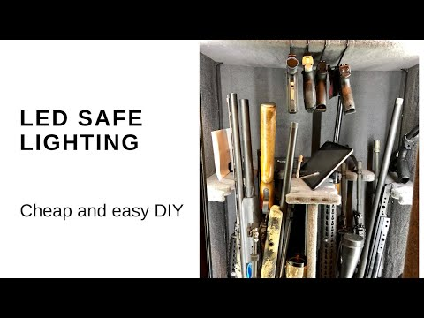 How to light your gun safe DIY and Parts list!! (Motion sensing on/off) - YouTube & How to light your gun safe DIY and Parts list!! (Motion sensing on ... azcodes.com