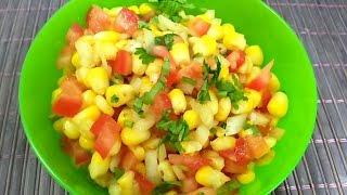 homemade vegetarian sweet Corn chaat recipe- easy Indian Snack