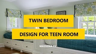 45+ Creative Twin Bedroom Design Ideas for Teen Room 2018