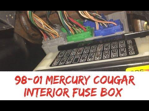fuse box location 99-02 mercury cougar interior inside 1999 2000 2001 2002  - youtube
