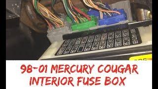 Fuse Box Location 99 02 Mercury Cougar Interior Inside 1999 2000 2001 2002