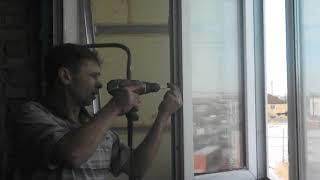 Замена замка на пластиковом окне.  Простое открывание.