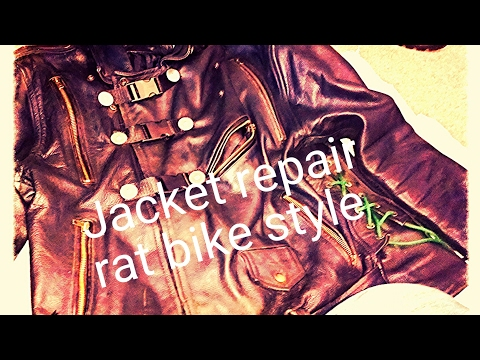 Rat bike style jacket repair/ waste land repair