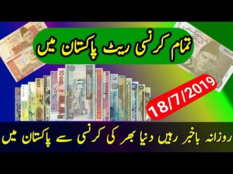 All World Currency Rate In Pakistani Rupies Today 18/7/2019