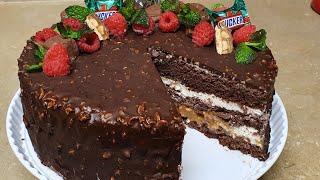 Mana haqiqiy SNIKERS TORTI Вот так нужно готовить Настоящий Торт СНИКЕРС