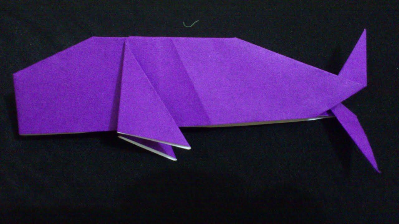 Cara Membuat Origami Paus Sederhana Origami Binatang