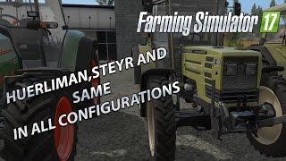 Farming Simulator 17 - All Huerlimann, Steyer, Zetor and Same Tractors