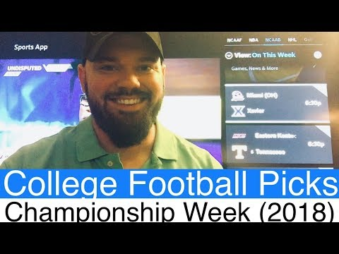 2018 Conference Championships | NCAAF College Football CFB Betting Picks & Predictions | NCAA