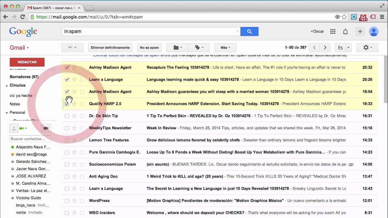 Cómo Revisar La Carpeta De Spam En Gmail Youtube