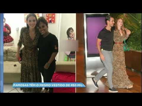 Bruna Marquezine e Marina Ruy Barbosa usam o mesmo vestido de R$3 mil