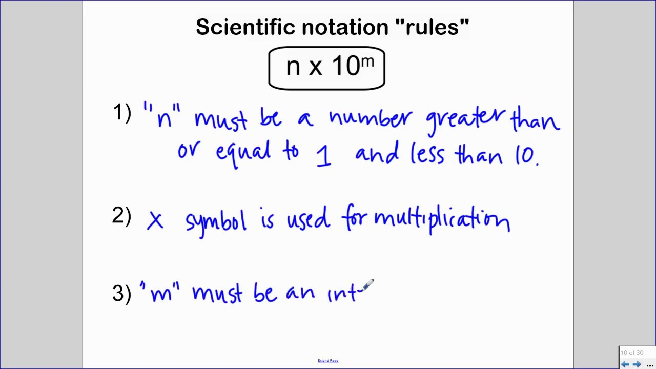 writing in scientific notation  youtube